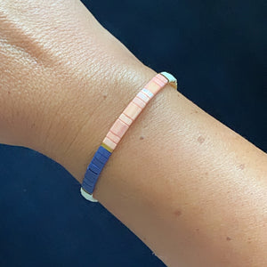 Libby & Smee stretch tile bracelet in Classic Colorblock