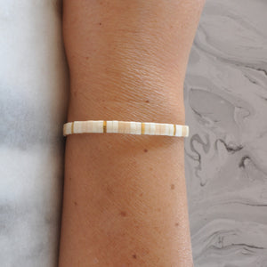Libby & Smee stretch tile bracelet in The One