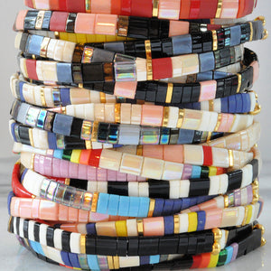 Libby & Smee stretch tile bracelets