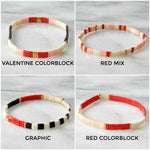 Load image into Gallery viewer, Libby & Smee red tila bracelets