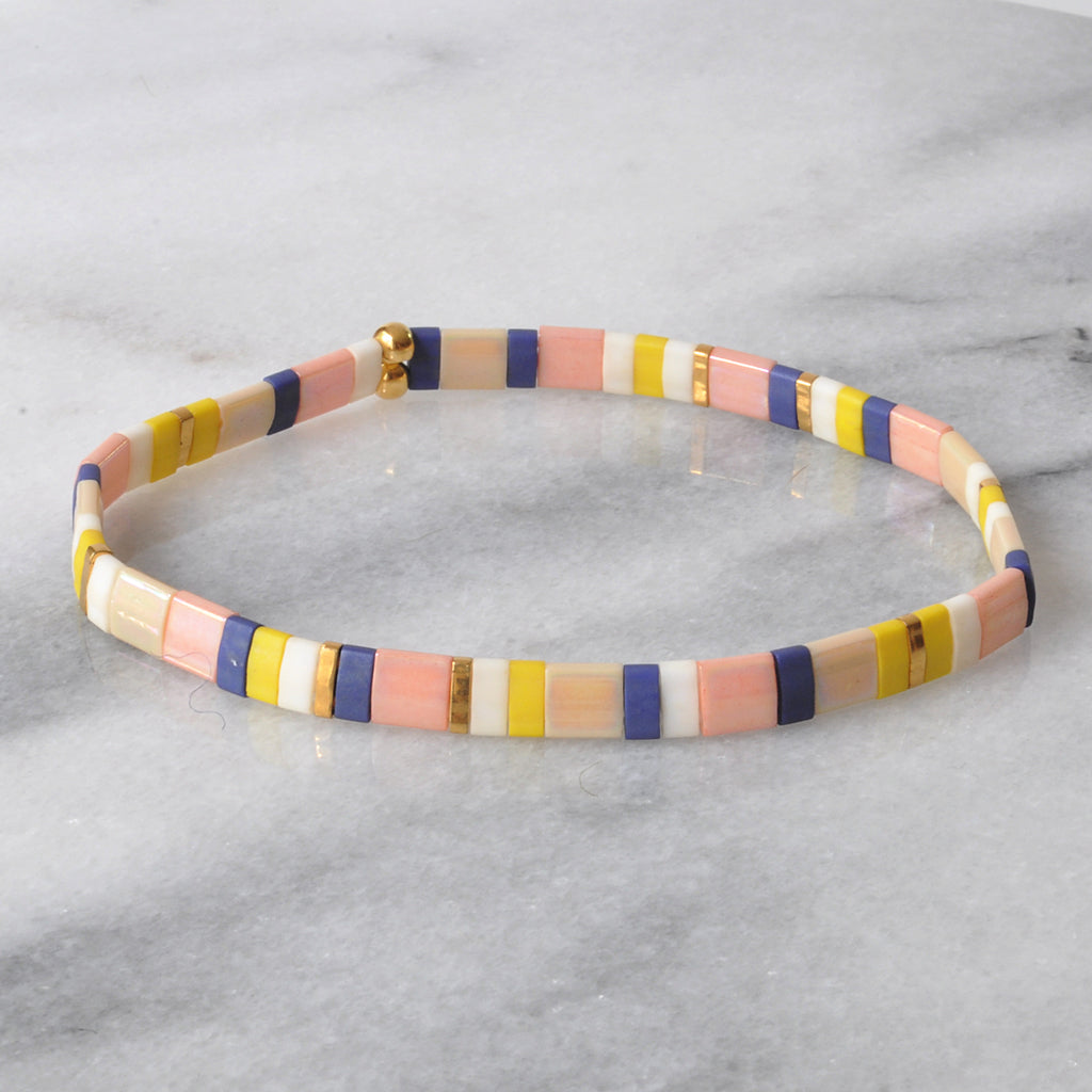 Libby & Smee stretch tile bracelet in The Classic
