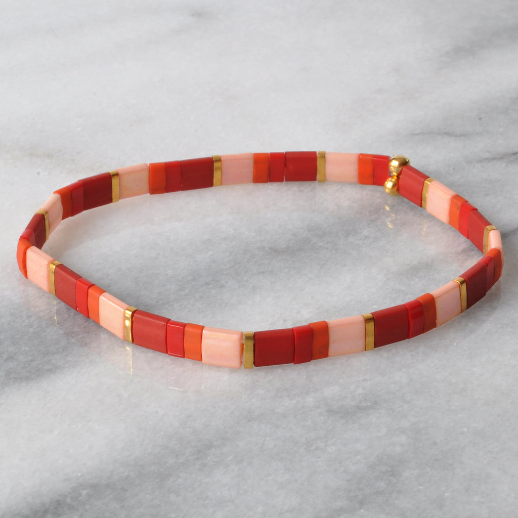 Libby & Smee stretch tile bracelet in Maquillage