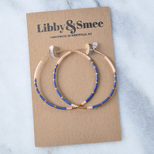 Libby & Smee gold filled seed bead hoop earrings