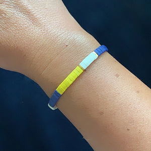 Libby & Smee stretch tile bracelet in Yellow Colorblock