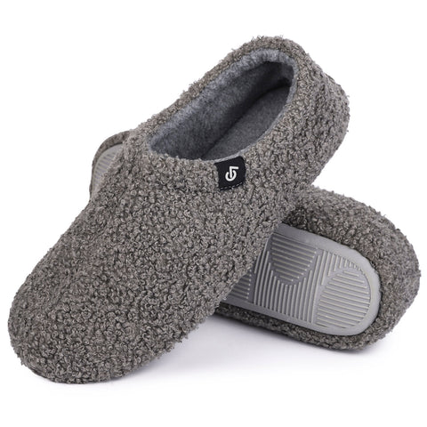 Ladies Fuzzy Curly Fur Slippers