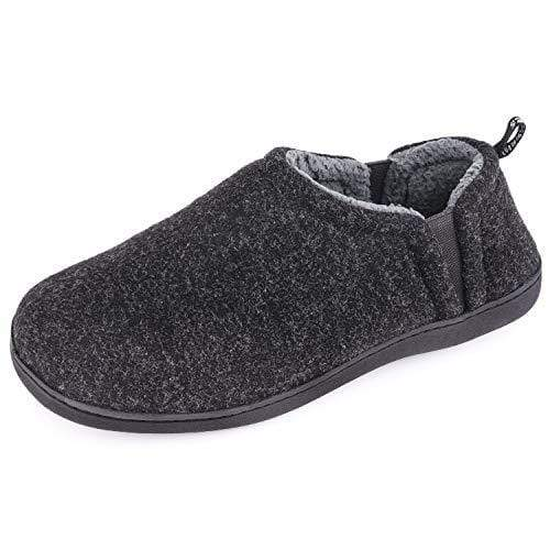 Men's Snug Leaves Fuzzy Wool Elastic Memory Foam Slippers