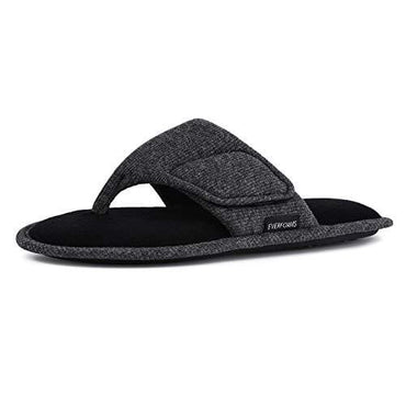 Men's EverFoams Comfy Adjustable Velcro Toeless Slippers