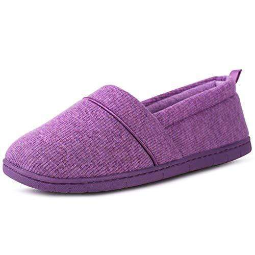 Ladies' EverFoams Cotton Knit Loafers Slippers