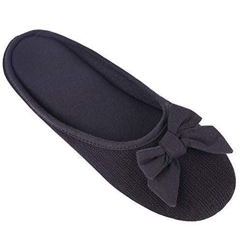 Ladies' EverFoams Comfy Cotton Memory Foam Ballerina Slippers