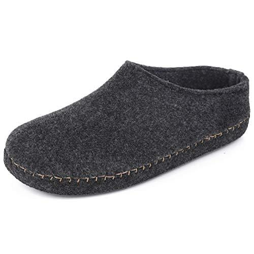 Men's VeraCosy Faux Fur Wool Felt Memory Foam Lofars Slippers
