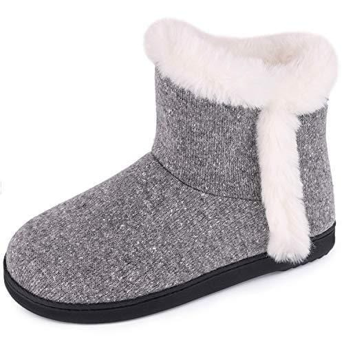 Women's VeraCosy Cotton Knit Plush Lining Memory Foam Ankle Booties
