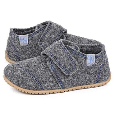 VeraCosy Unisex Boys Girls Wool Felt Slippers with Adjustable Hook and Loop