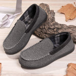 Men's Micro Wool Moccasin Slippers with Flannel Lining
