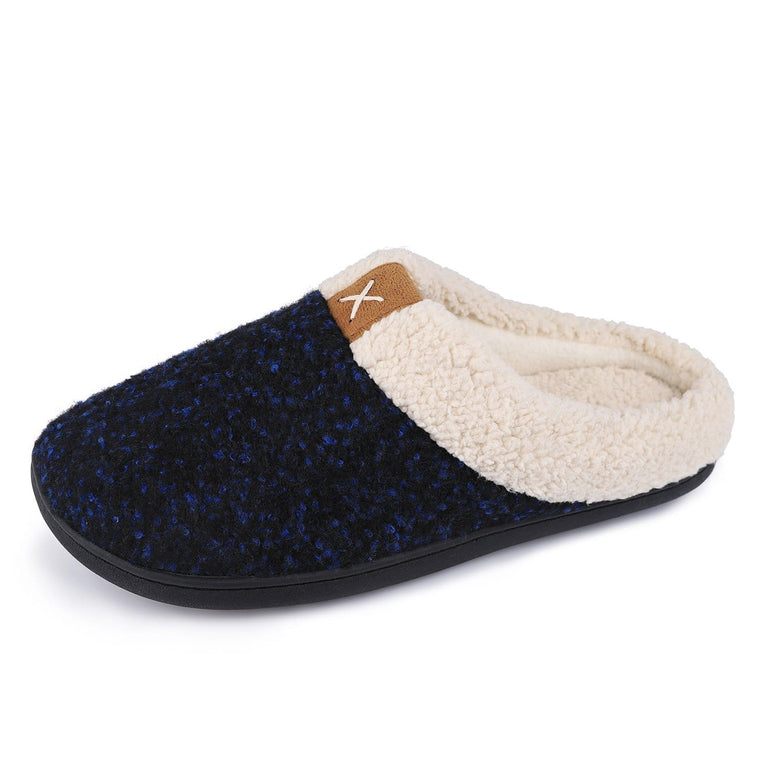 Men's VeraCosy Wool-Like Plush Fleece Lined Slides Slippers