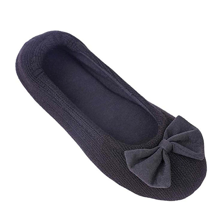 Ladies' EverFoams Bow Memory Foam Ballerina Slippers
