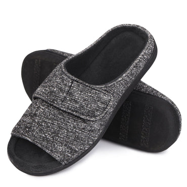 Ladies' Snug Leaves Adjustable Sticker Open Toe Slippers