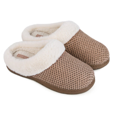 EverFoams Men's Comfort Woolen Fabric Memory Foam Anti-Slip Slippers, Breathable Indoor Outdoor House Shoes