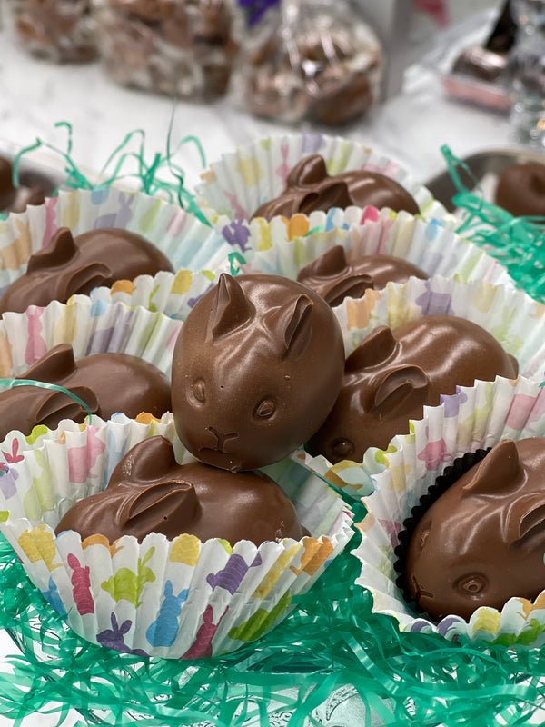Little Bunnies in Peanut Butter, Chocolate, and Caramel