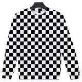 Demon Slayer Sweater <br>Checkered (Black and White)