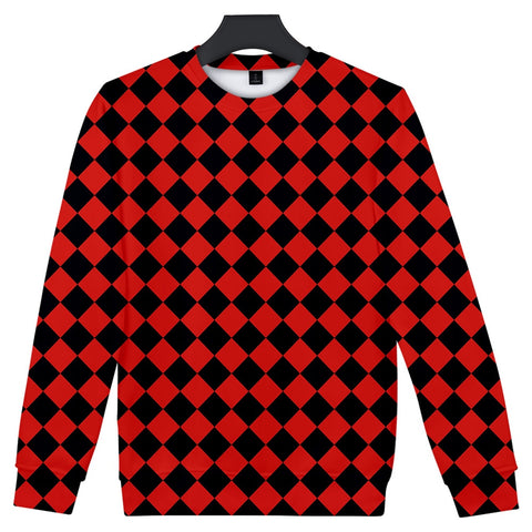 Demon Slayer Sweater <br>Checkered (Red and Black)