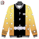 Demon Slayer Zenitsu Agatsuma Baseball Jacket