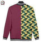Giyuu Pattern Baseball Jacket