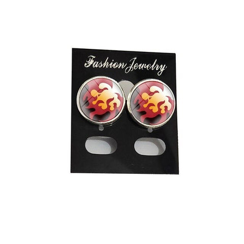 Demon Slayer Stud Earrings <br>Rengoku
