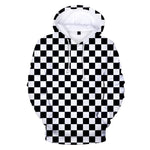 Demon Slayer Hoodie <br>Checkered (Black and White)