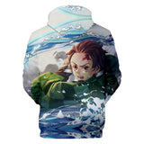 Demon Slayer Hoodie <br>Tanjiro Water Breathing
