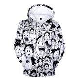 Demon Slayer Hoodie <br>Tanjiro Funny Faces