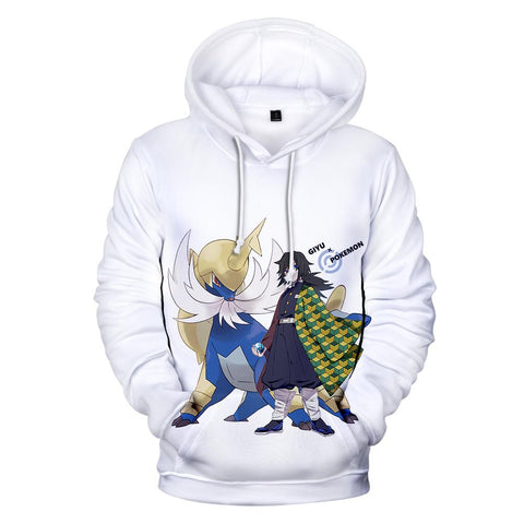 Demon Slayer Hoodie <br>Giyu x Pokemon