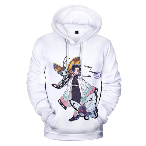 Demon Slayer Hoodie <br>Shinobu x Pokemon