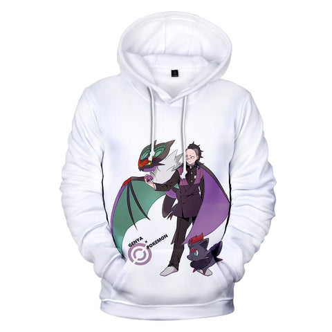 Demon Slayer Hoodie <br>Genya x Pokemon