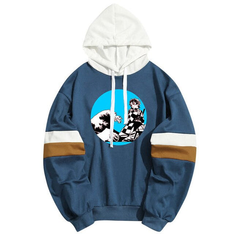 Demon Slayer Hoodie <br>Tanjiro Kanagawa Wave