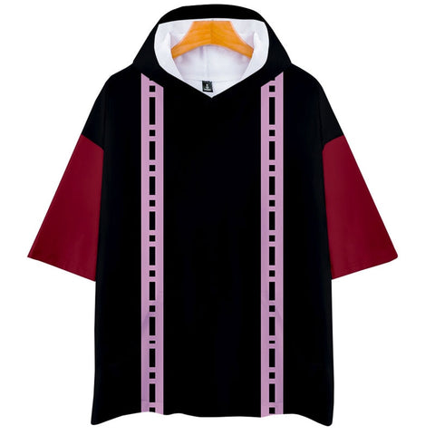 Demon Slayer Short Sleeve Hoodie <br>Doma Pattern