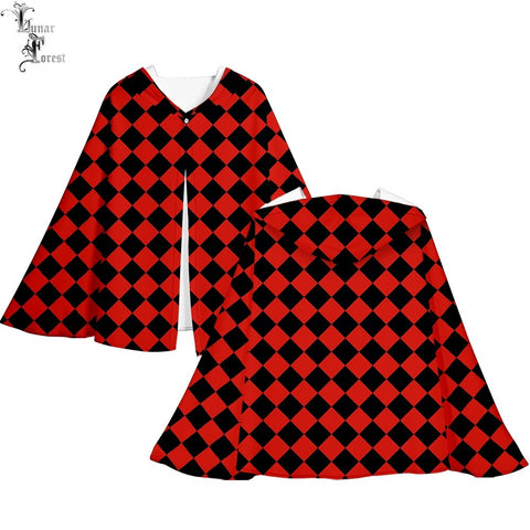 Demon Slayer Cloak <br>Checkered (Red and Black)