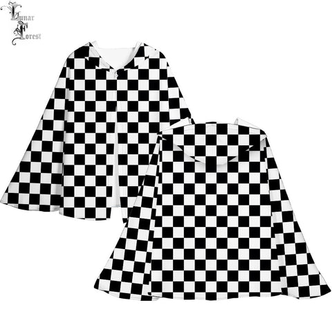 Demon Slayer Cloak <br>Checkered (Black and White)
