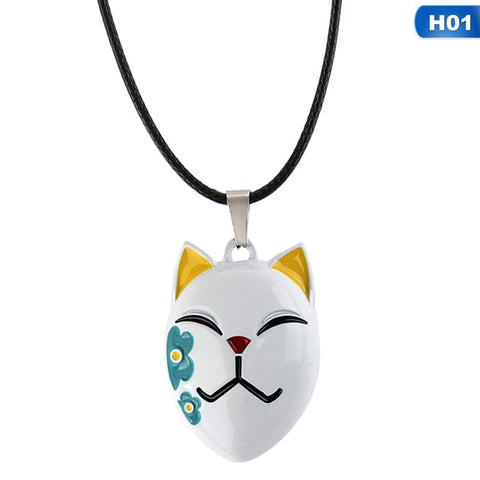 Demon Slayer Necklace <br>Makomo Fox Mask