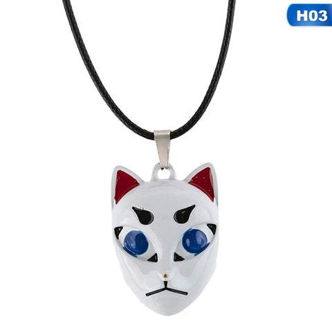 Demon Slayer Necklace <br>Giyuu Fox Mask