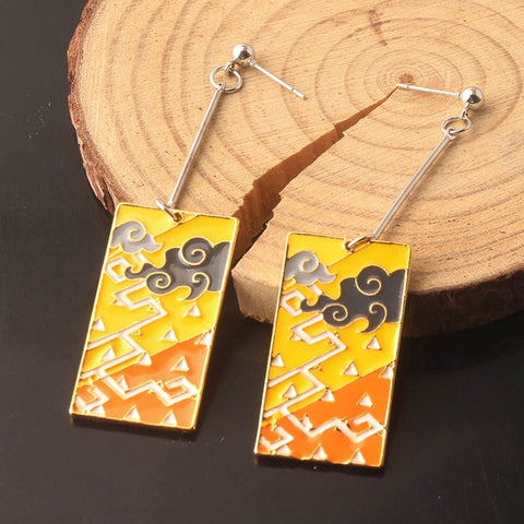 Demon Slayer Earrings <br>Zenitsu Design