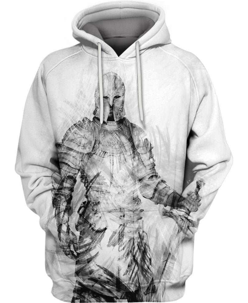 Appealing Charcoal Knight Hoodie