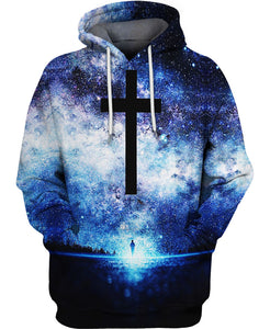 Galaxy Christian Cross