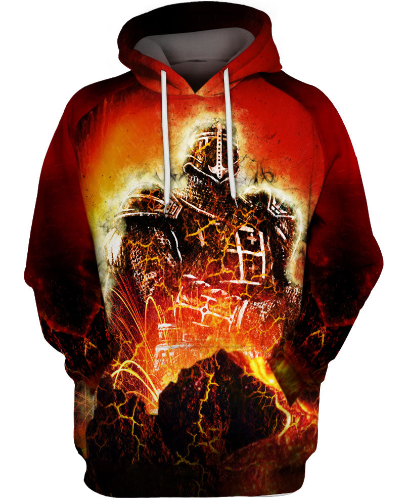 Amazing Flaming Knight Hoodie