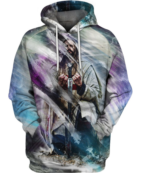 Impressive Colorful Knight Hoodie