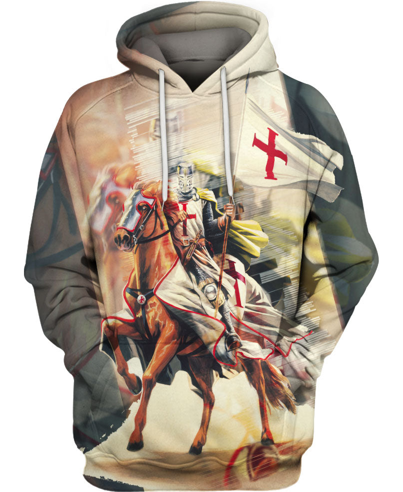 Charming Knight on Horse Hoodie