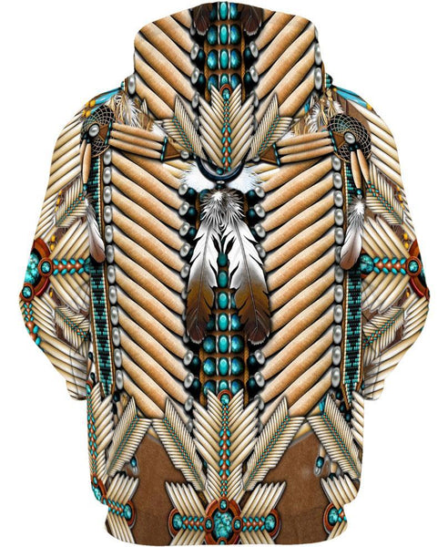 Brown White Bead Feather