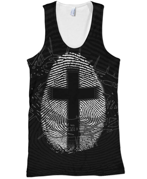 Black Cross Fingerprint