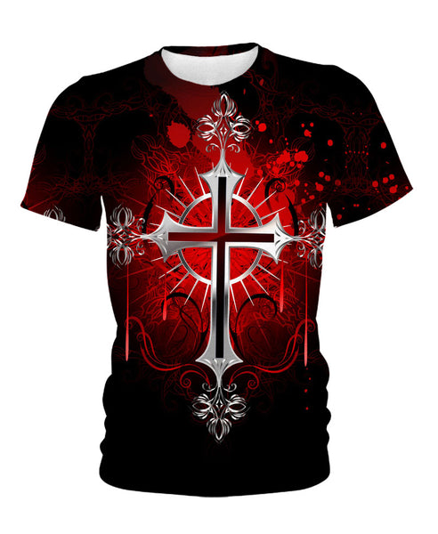 Deep-Red Christian Cross
