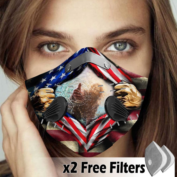 Activated Carbon Filter PM2.5 - American Flag Mask 11