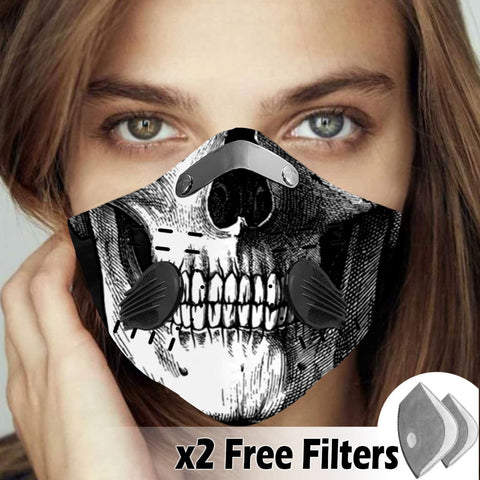 Activated Carbon Filter PM2.5 - Skull Mask 21